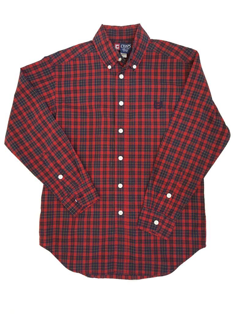 Chaps button down dress shirt size 10 12 for Chaps button down shirts